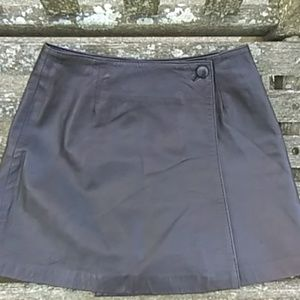 Black Leather Mini Skirt by Express EUC so soft